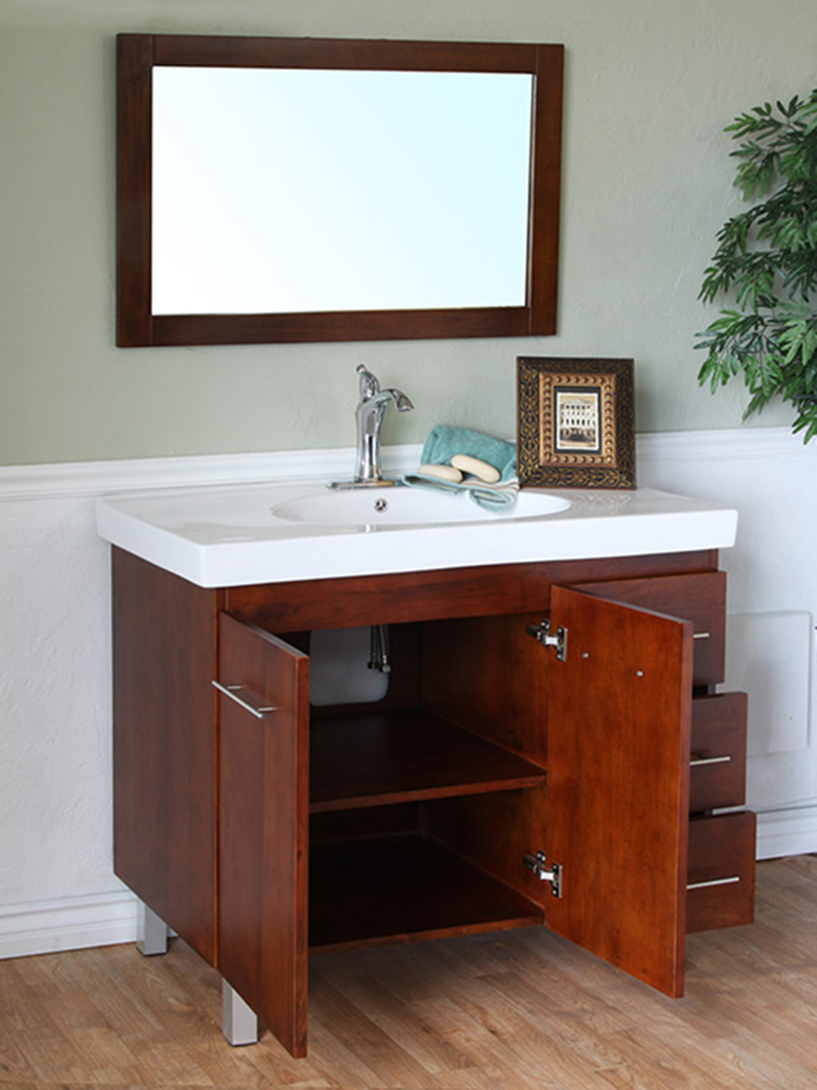 Double-Door Cabinet And Three Drawers