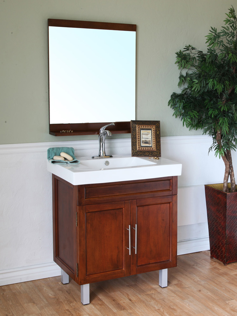 "31.5"" Marilian Single Bath Vanity in Walnut"