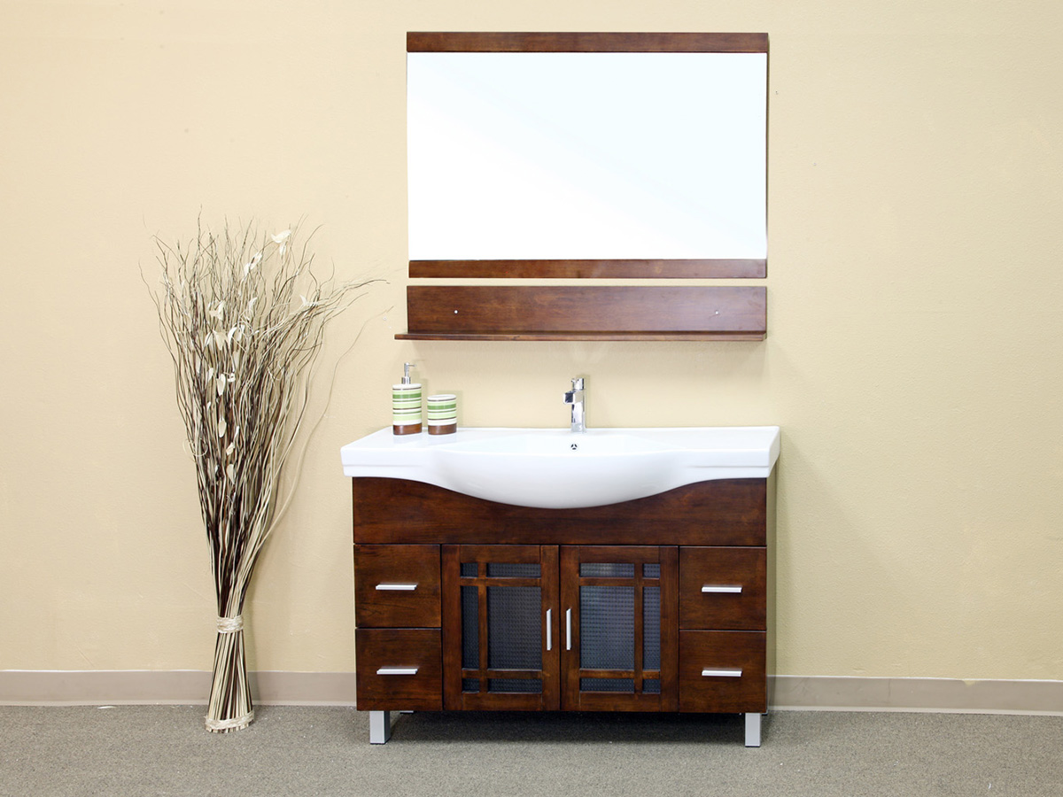 "48"" Palmas Single Vanity Shown With Optional Mirror"
