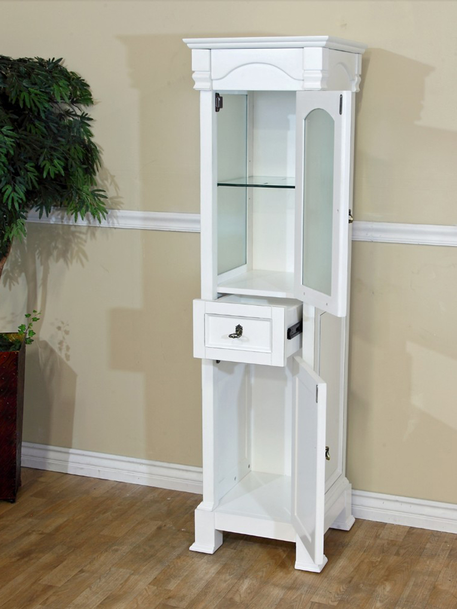 Optional Linen Cabinet - Two Single-Door Cabinets And A Single Drawer