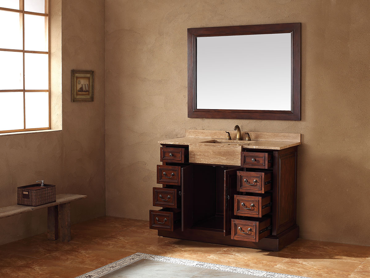Double-Door Cabinet and Eight Drawers