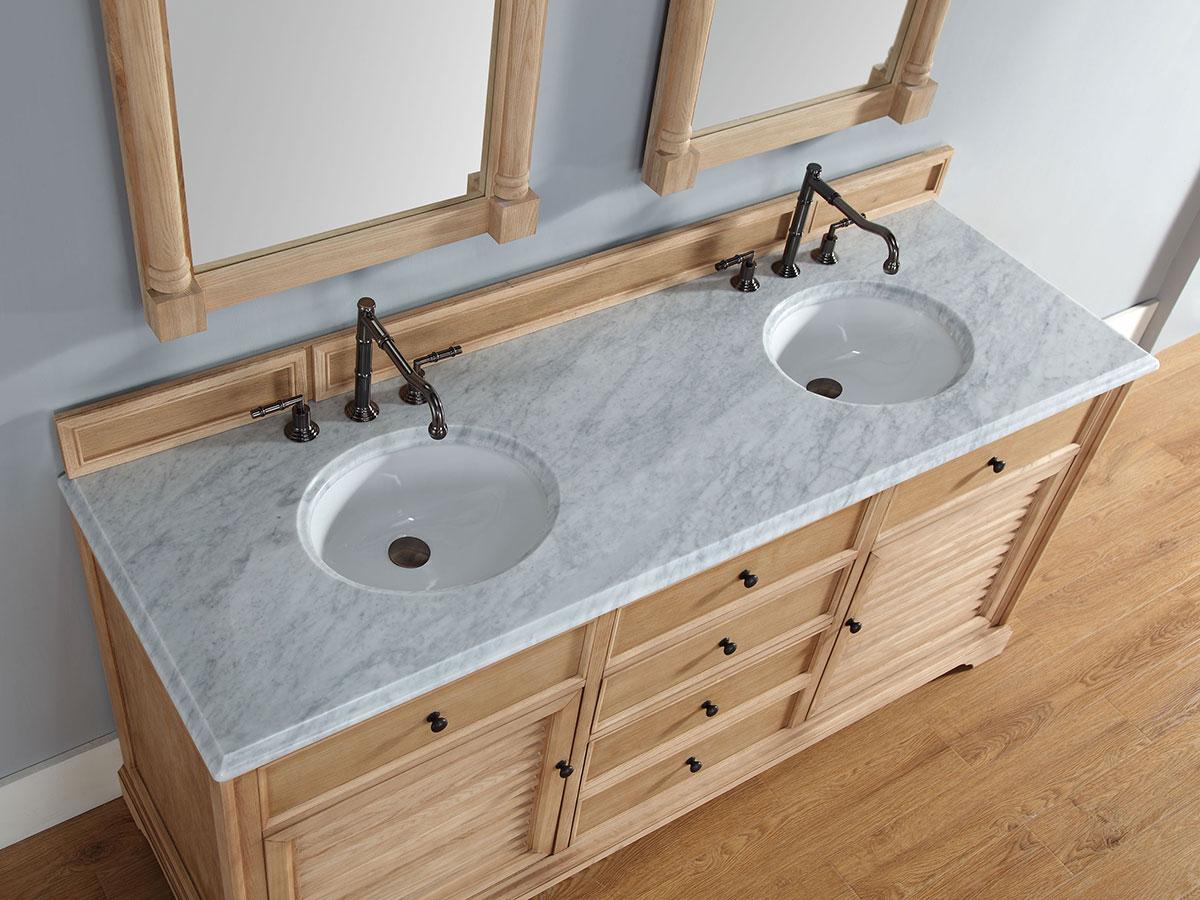 72 Veroli Double Sink Vanity Natural Oak Bathgems Com