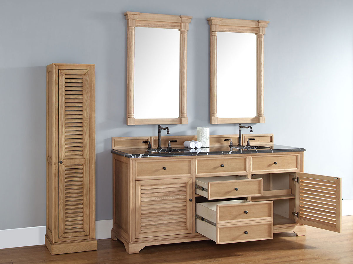 "72"" Veroli Double Sink Vanity - Natural Oak"
