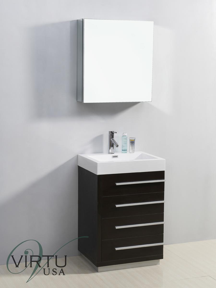"""24"""" Bailey Single Bath Vanity in Wenge"""
