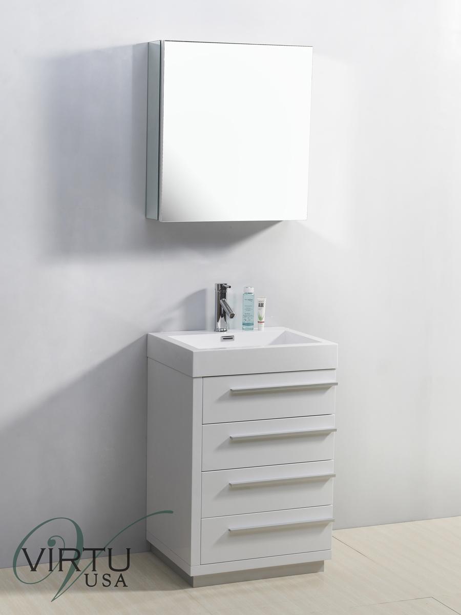 "24"" Bailey Single Bath Vanity in White"