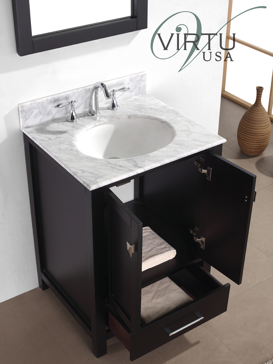 Features a pull-out drawer and a double-door cabinet