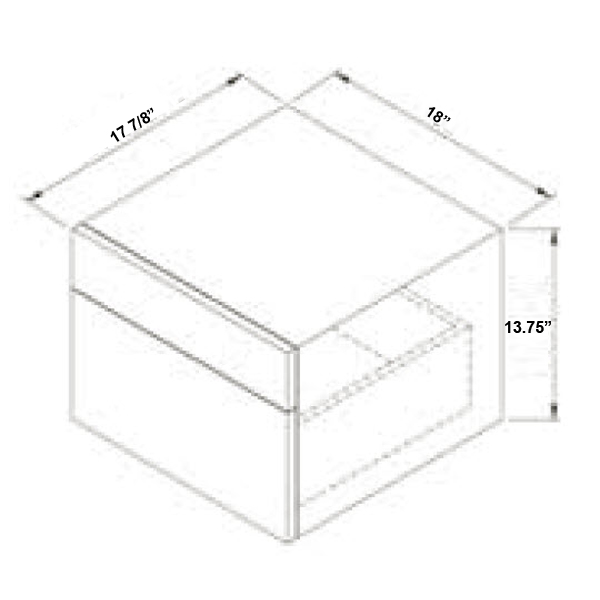 Optional Side Cabinet - Dimensions