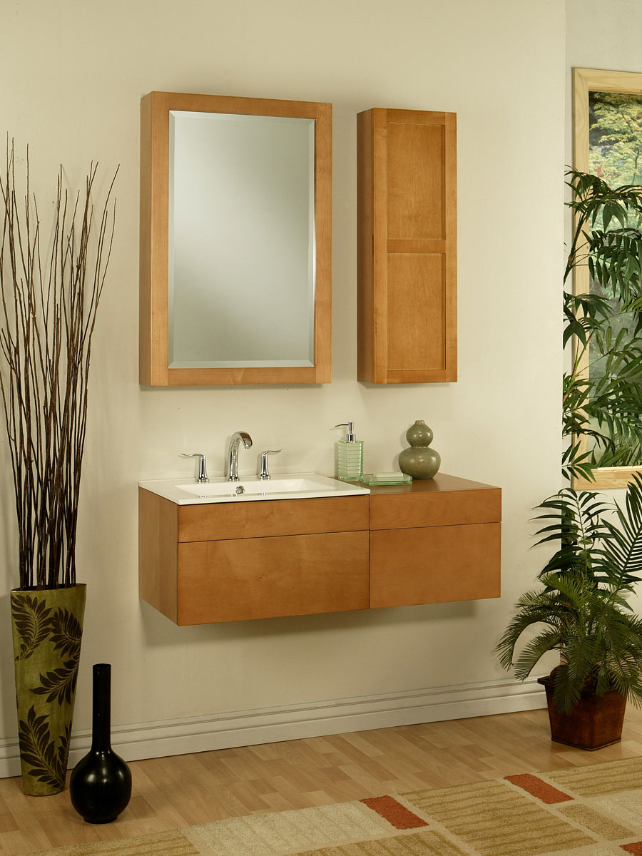 """23.5"""" Lincoln Street Vanity - shown with optional side cabinet"""