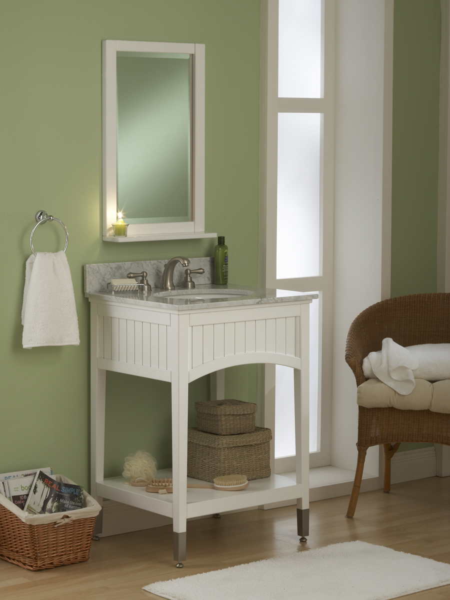 "24"" Seaside Single Vanity - with optional top and mirror"