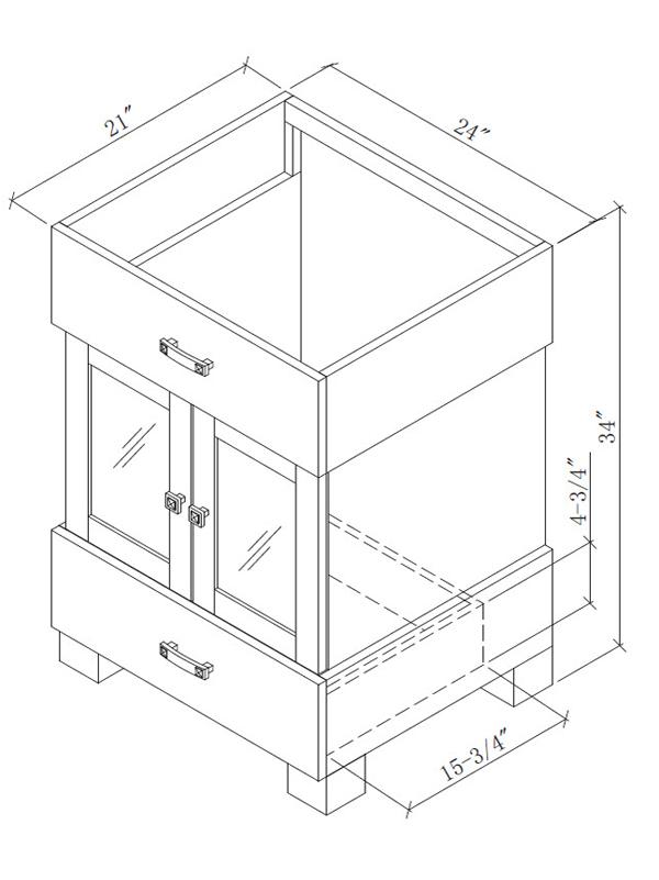 "24"" Citation Single Bath Vanity - Dimensions"