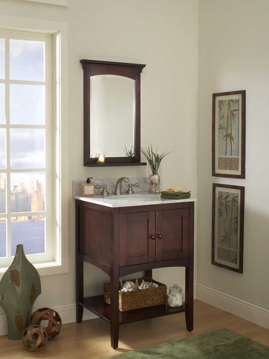 "24"" Allure Vanity - shown with optional mirror"