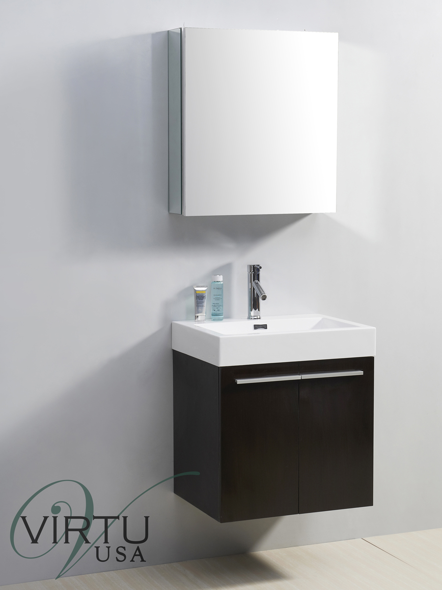 "24"" Midori Single Bath Vanity in Wenge"
