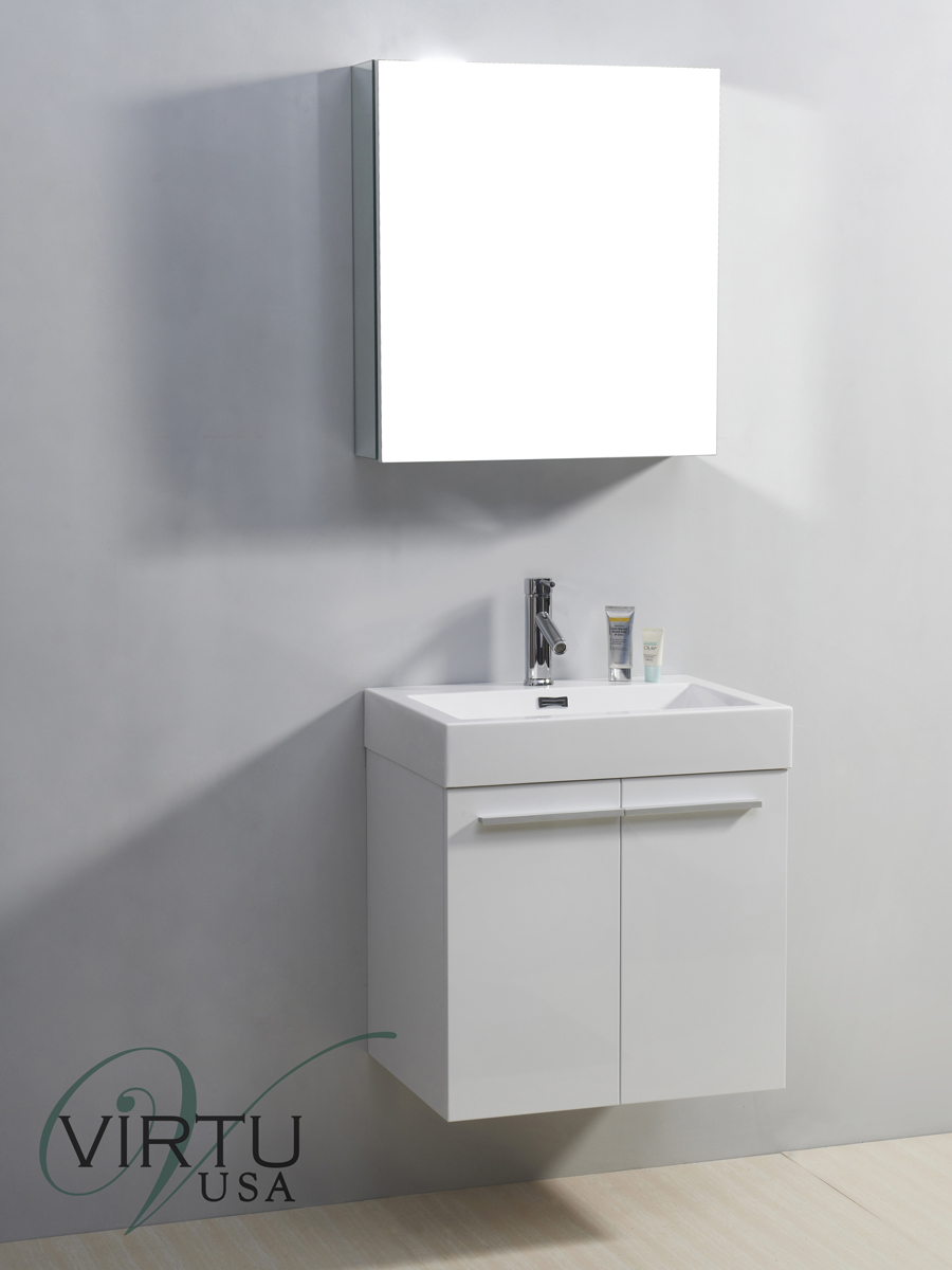 "24"" Midori Single Bath Vanity in White"