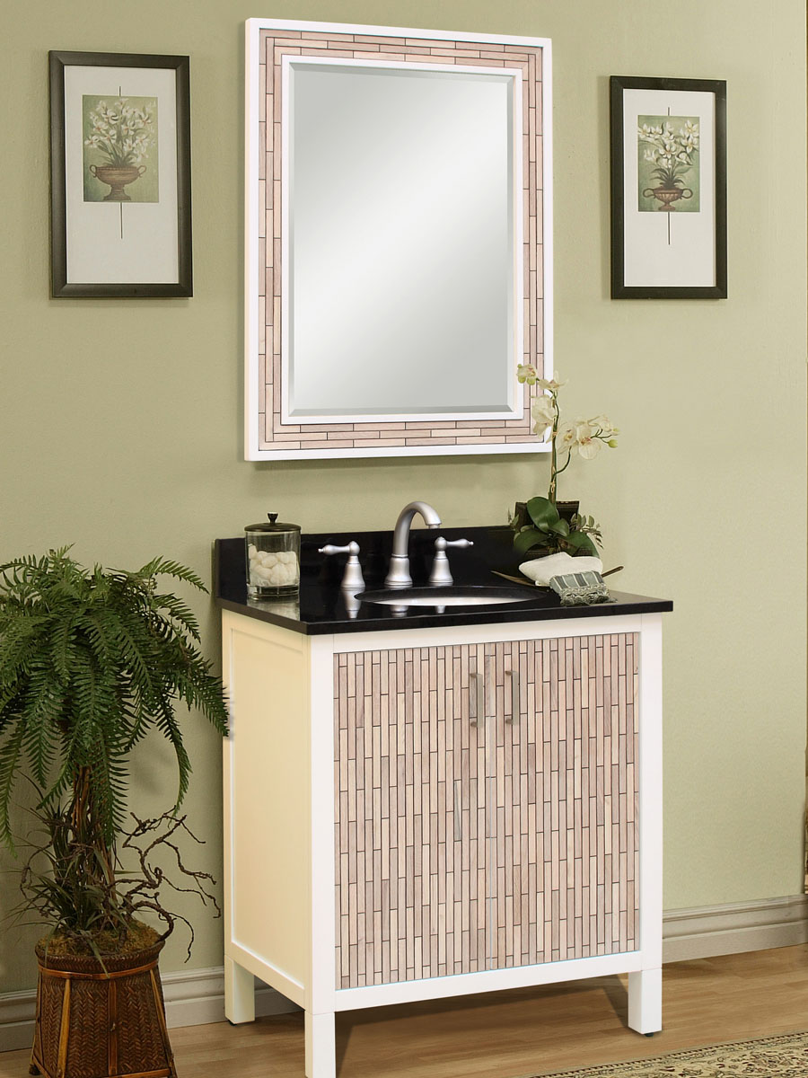 "24"" Cape Point Single Bath Vanity - shown with optional mirror"