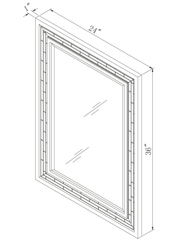 Optional Mirror - Dimensions