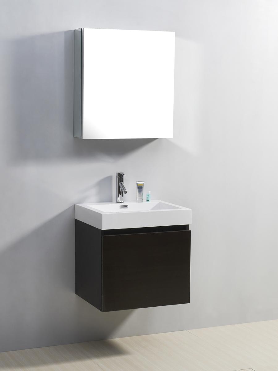 """22.5"""" Zuri Single Bath Vanity in Wenge"""