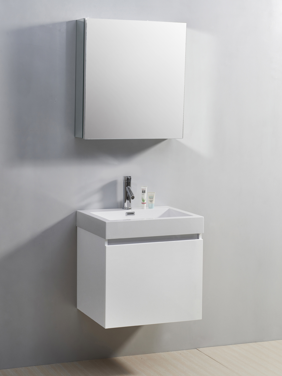 "22.5"" Zuri Single Bath Vanity in White"