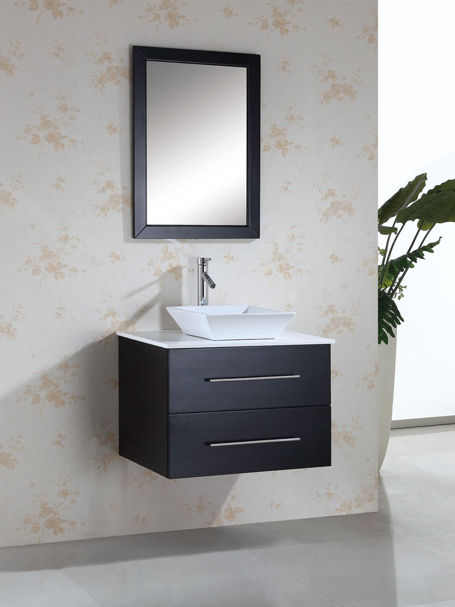 "29.5"" Marsala Single Vessel Sink Vanity - with Artificial Stone Top"