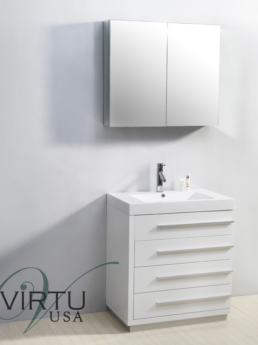 "31.5"" Bailey Single Bath Vanity in White"