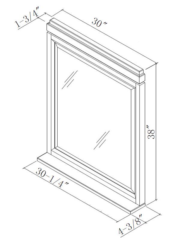Optional Mirror - Dimensions