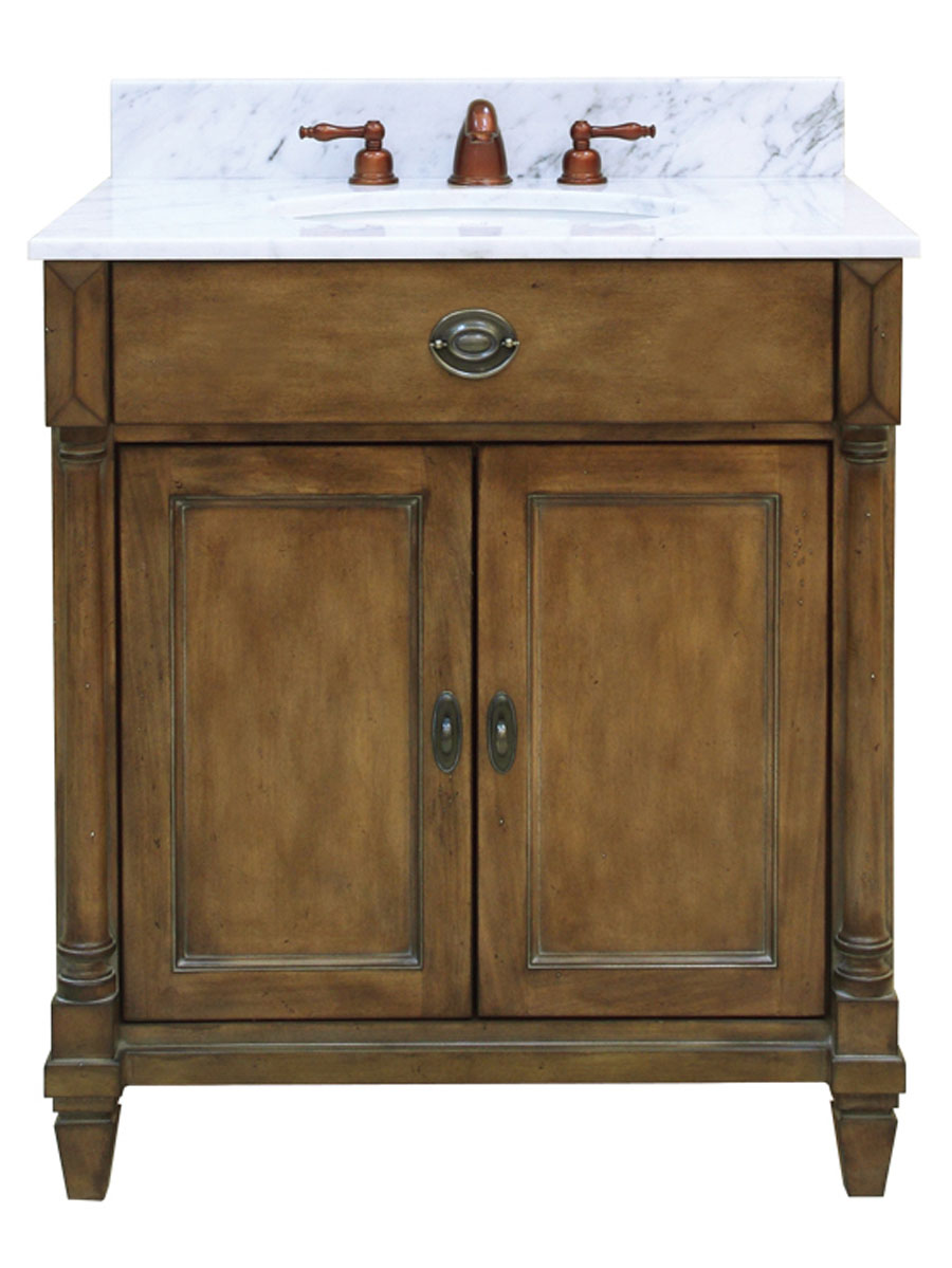 "30"" Regency Place Single Vanity - With optional Carrera White marble top"