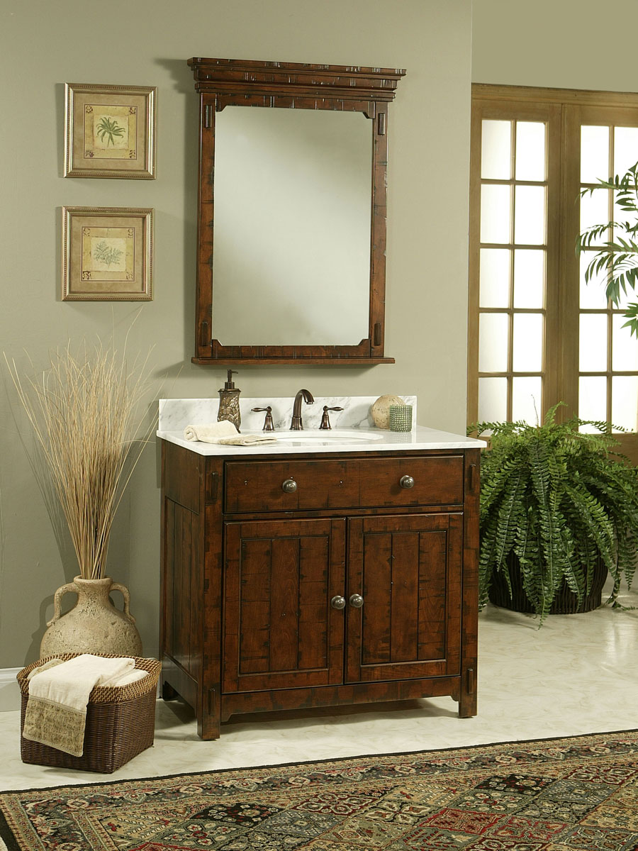 "30"" Milltown Single Vanity - shown with optional mirror"