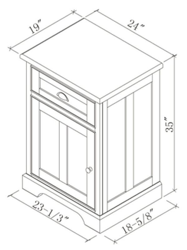 "30"" Somerset Single Vanity - Dimensions"