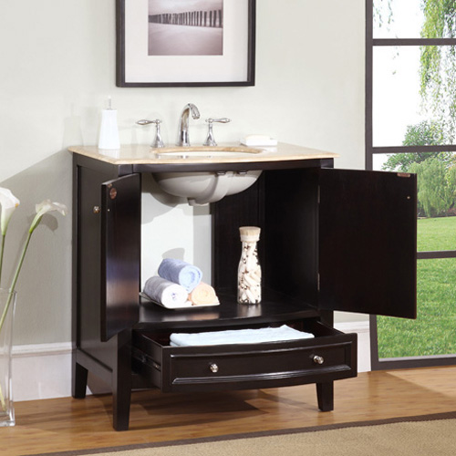 Double-door cabinet and single drawer