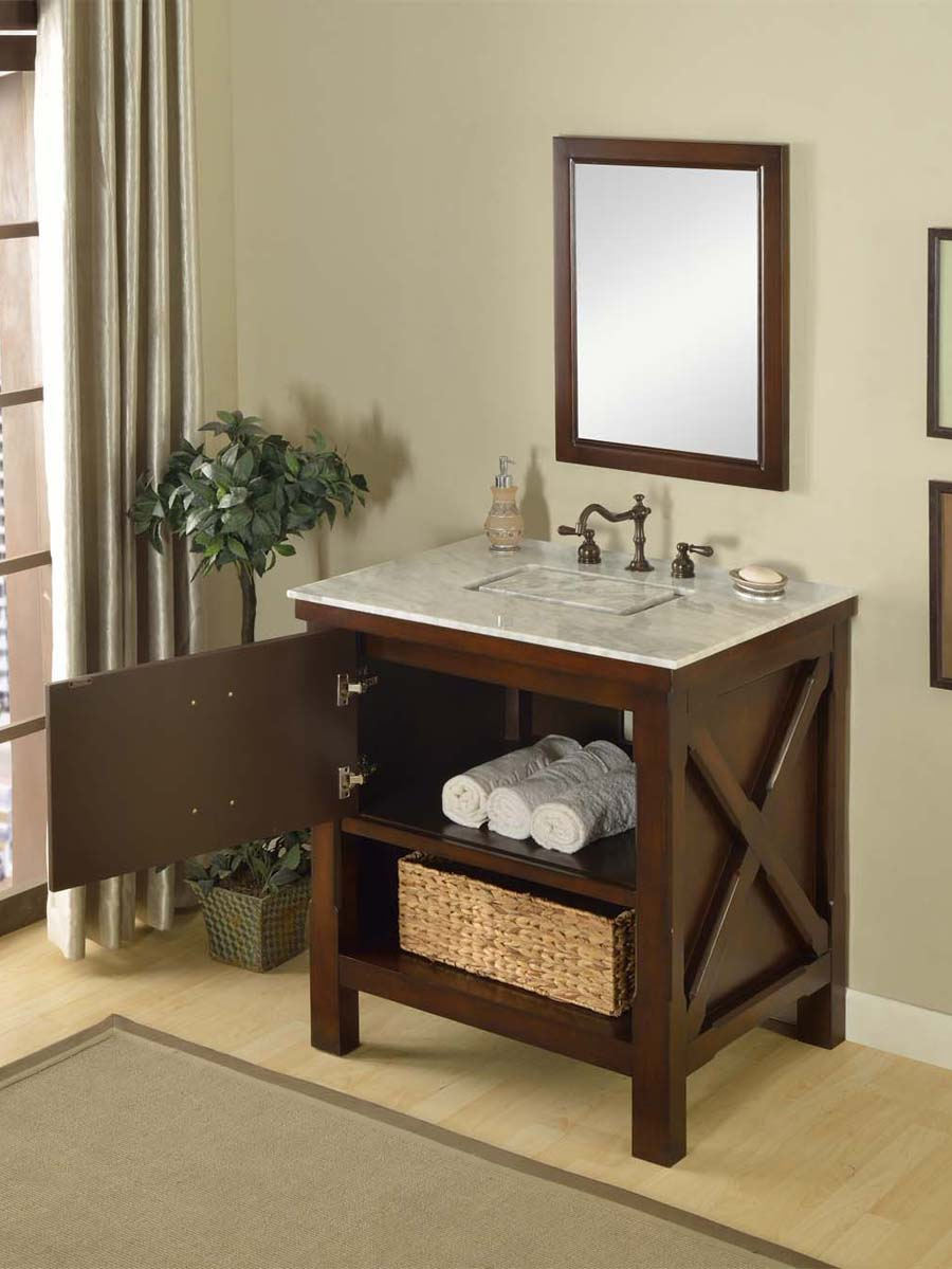 "32"" Liverpool Single Bath Vanity - Espresso - Bathgems.com"