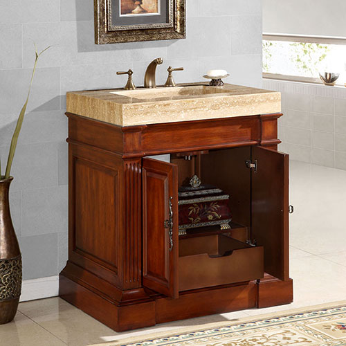 Double-Door Cabinet with Single Drawer