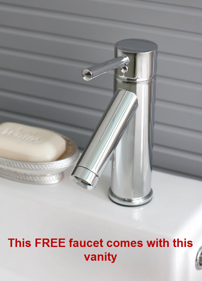 Includes free faucet