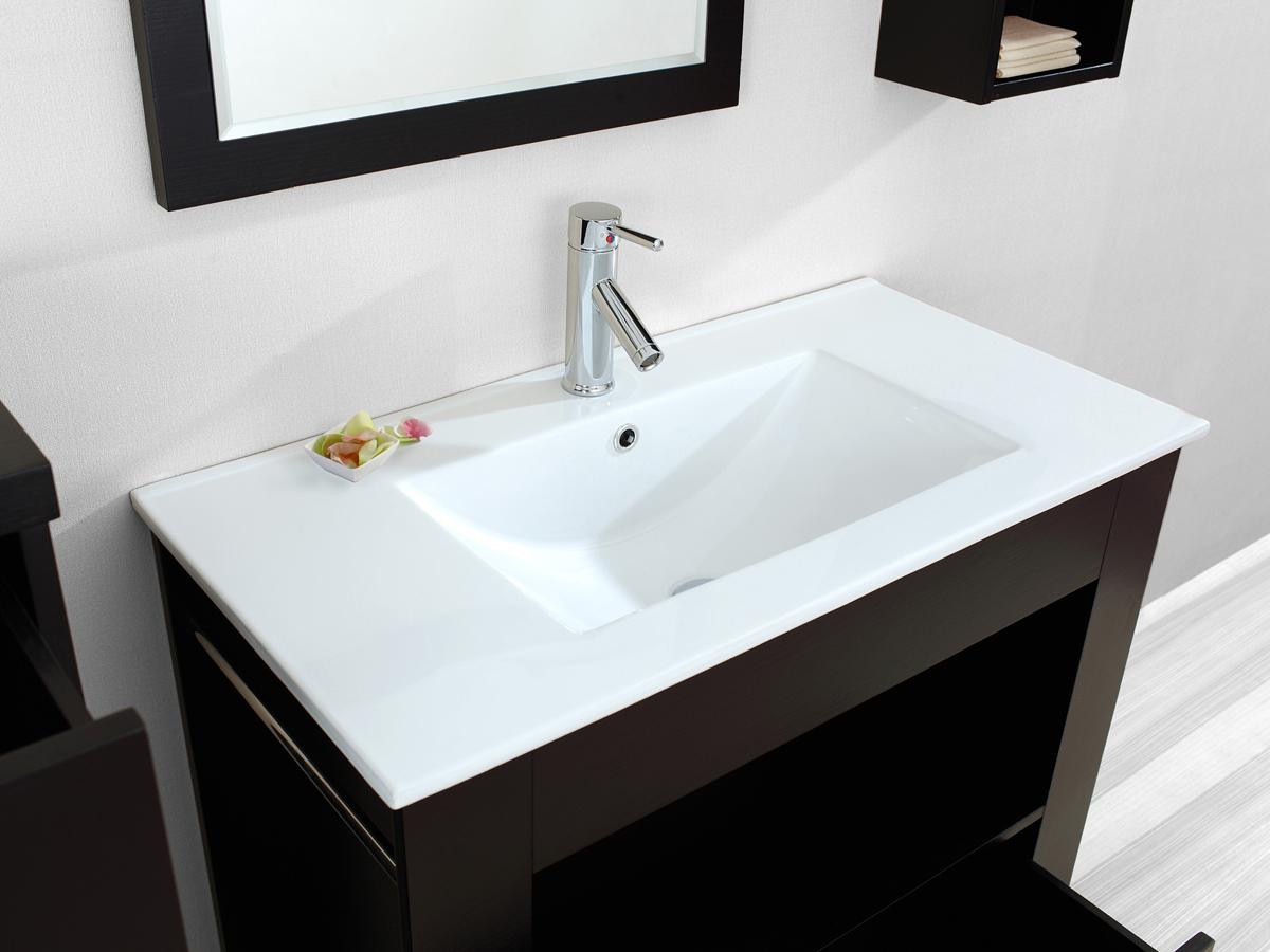 Integrated ceramic sink top