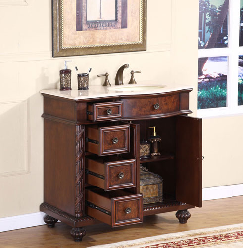 Double-Door Cabinet and Four Drawers