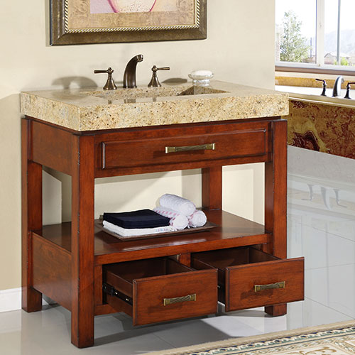 Single vanity with two drawers