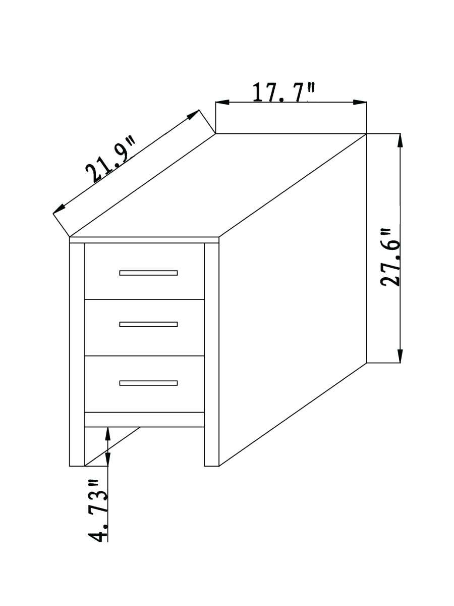Side Cabinet - Dimensions