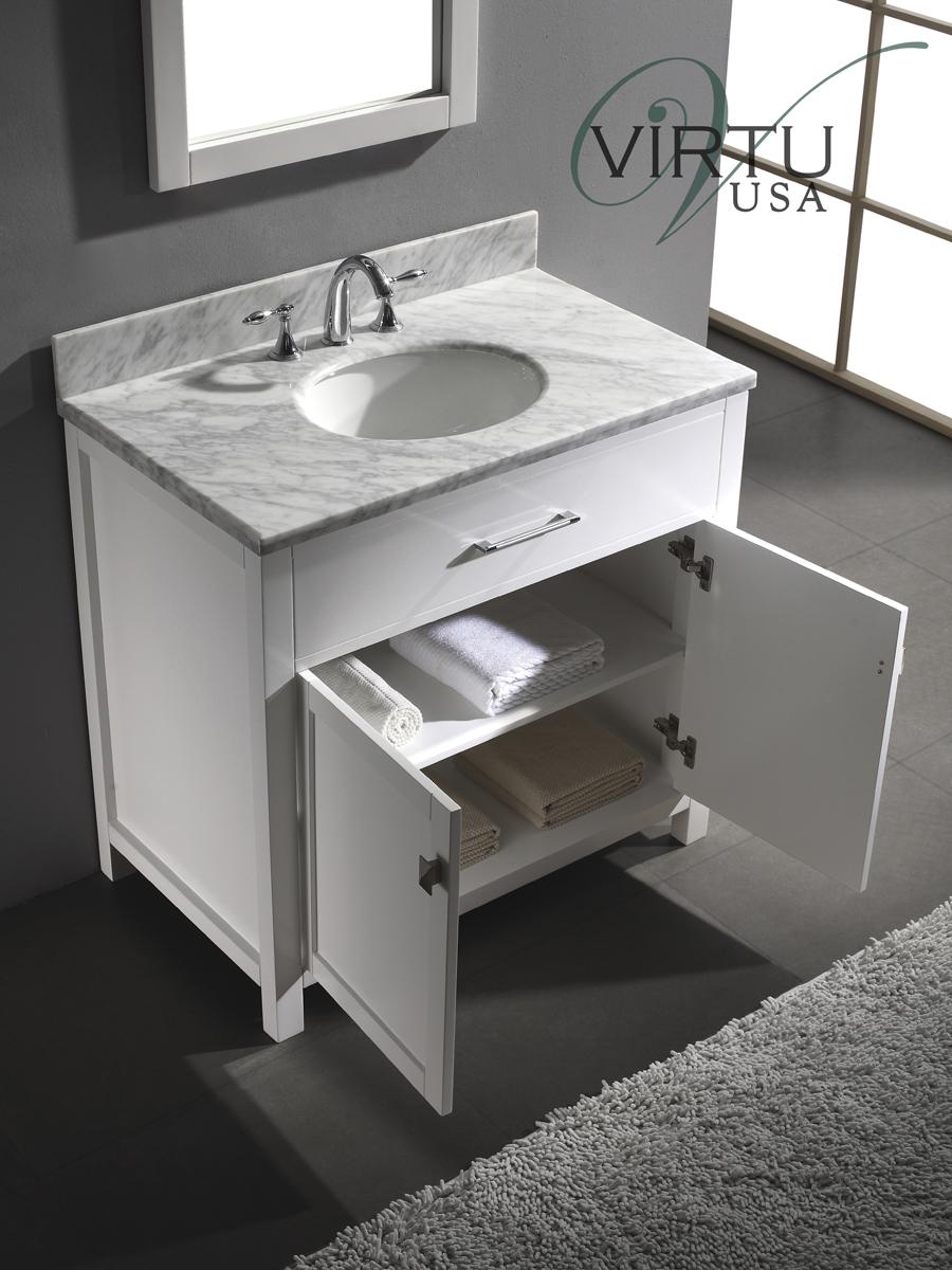 Features double-door cabinet