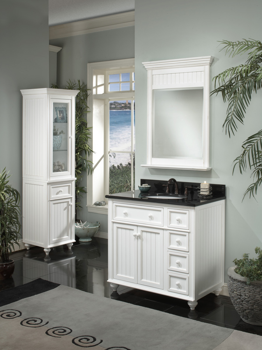 "36"" Cottage Retreat Single Vanity - shown with optional mirror"
