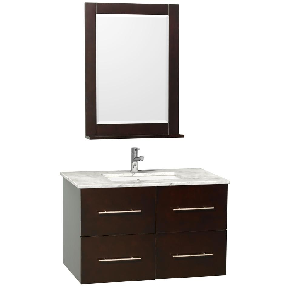 "36"" Zentra Single Bath Vanity - Espresso - Bathgems.com"
