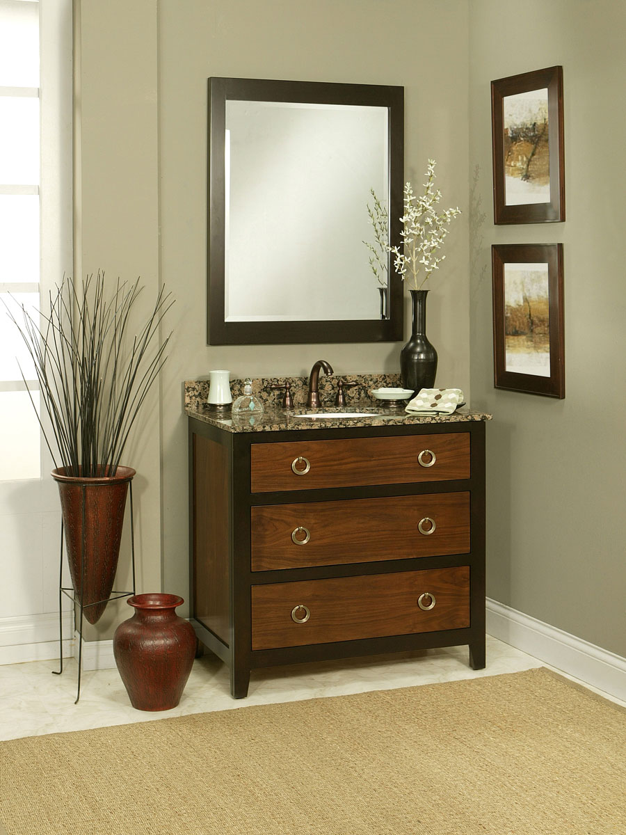 36 Quot Urban Walnut Single Bath Vanity Bathgems Com