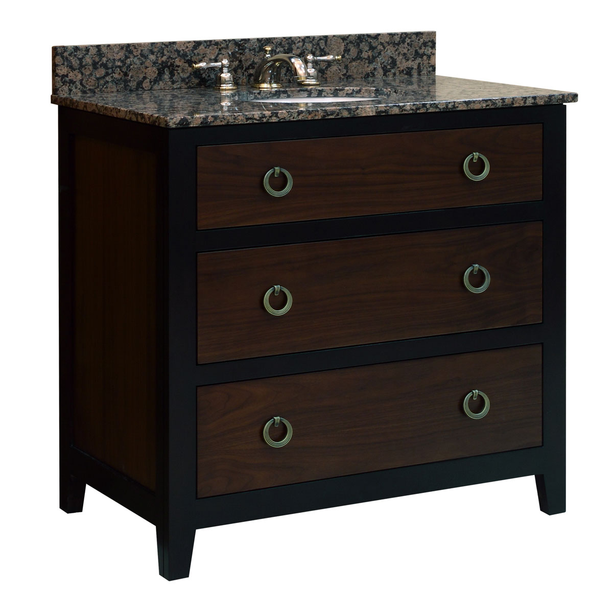 "36"" Urban Walnut Single Vanity - with optional top"