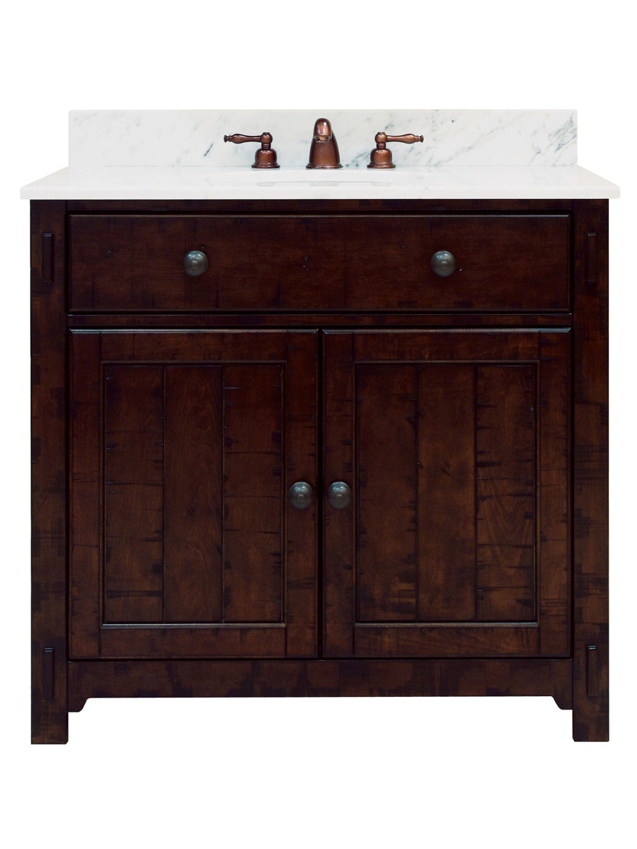 "36"" Milltown Single Vanity - with optional Carrera White Marble top"