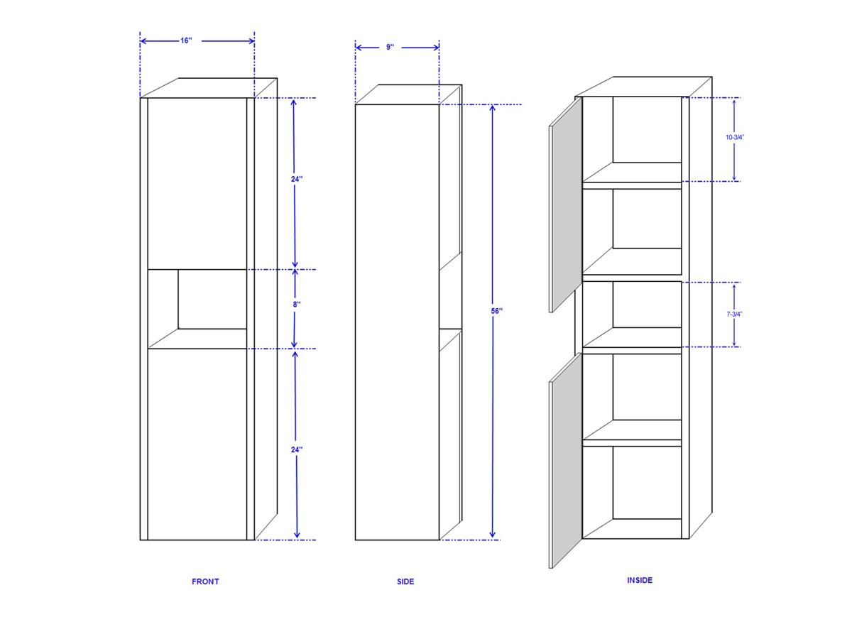 Sarah Wall Cabinet - Dimensions