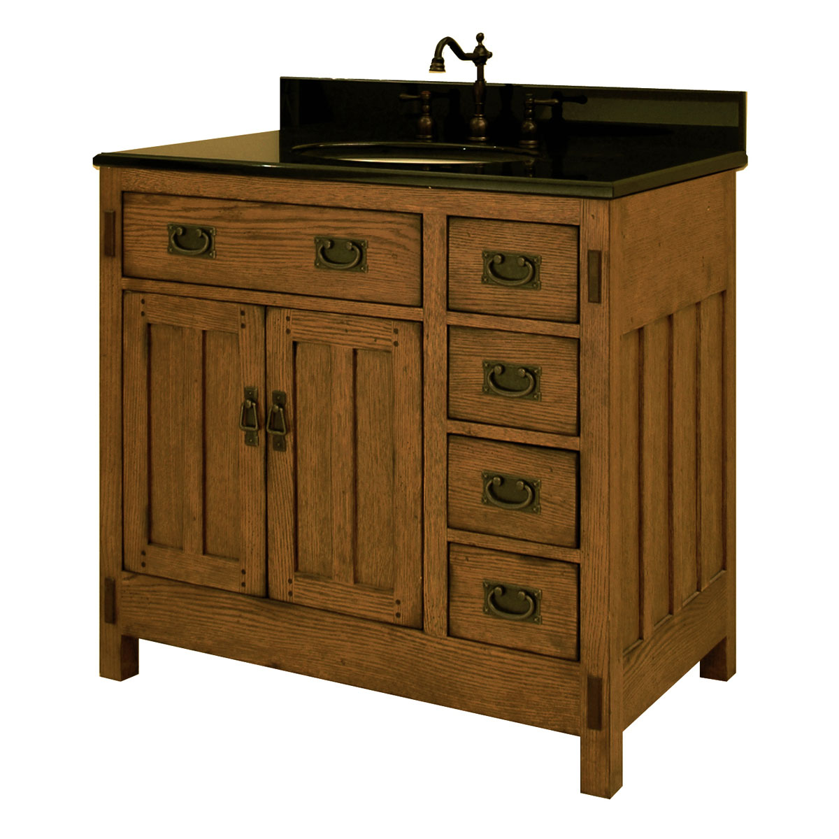 "36"" American Craftsman Single Bath Vanity - Bathgems.com"