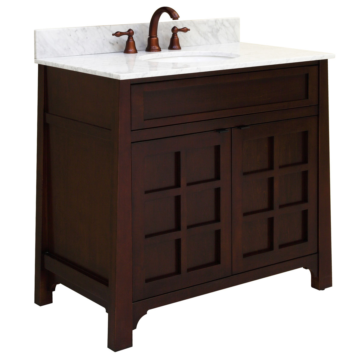 "36"" Parkdale Single Vanity with optional Carrera White top"