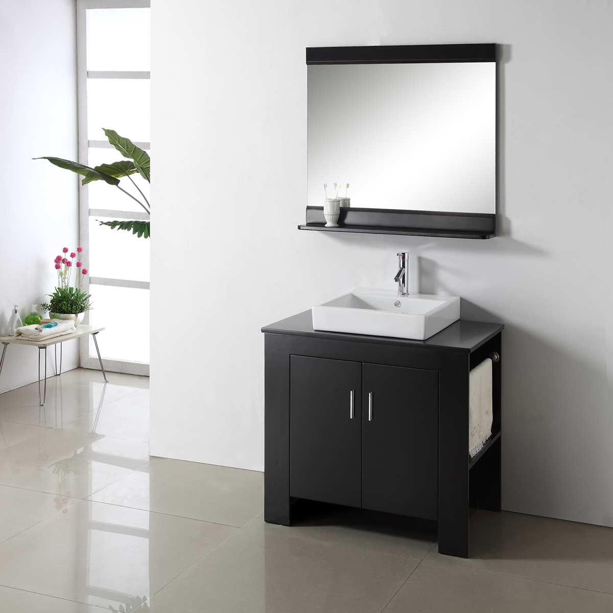 "36.25"" Tavian Single Vanity - with Right Sided Towel Rack"