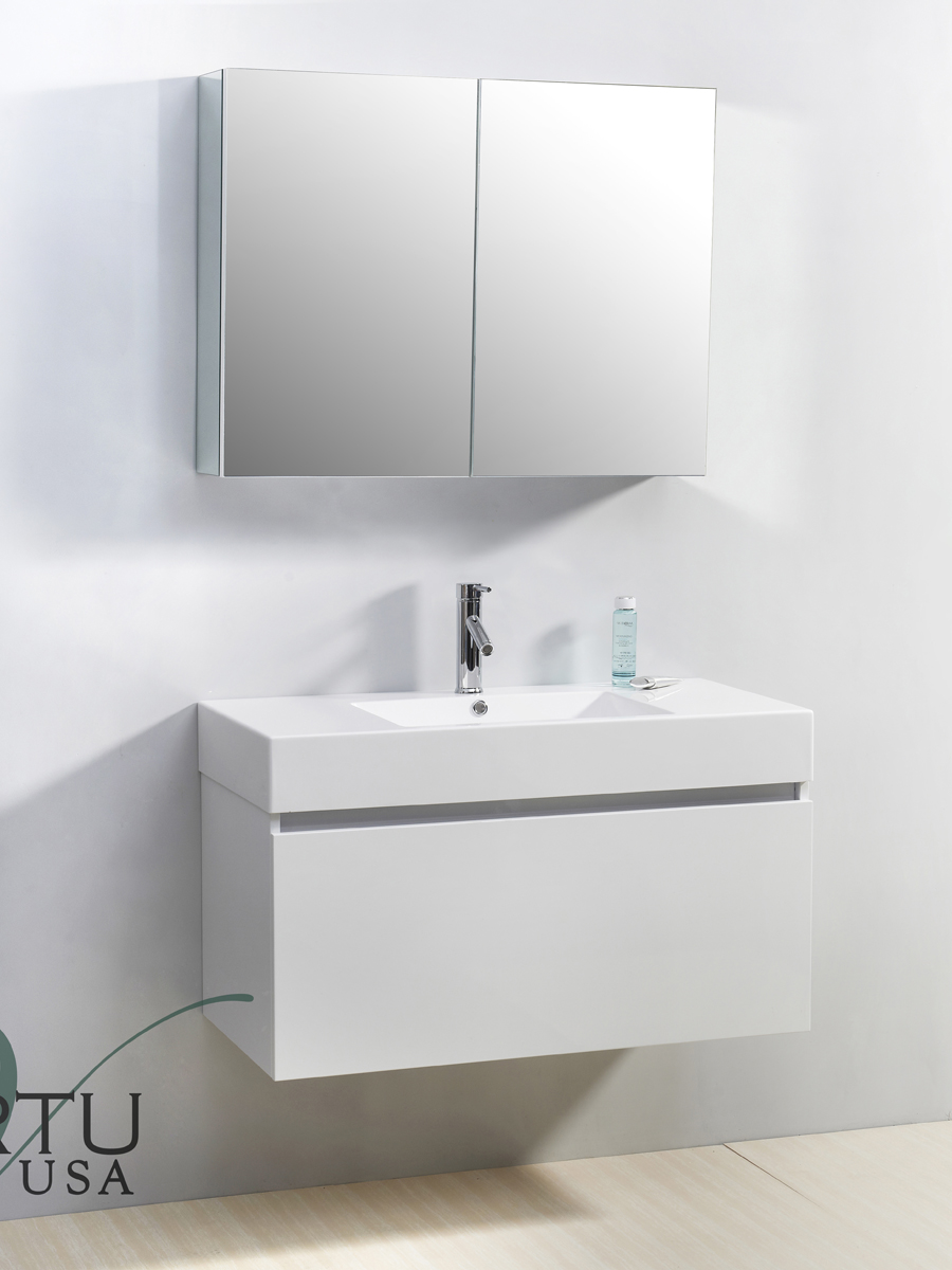 "39"" Zuri Single Bath Vanity in White"