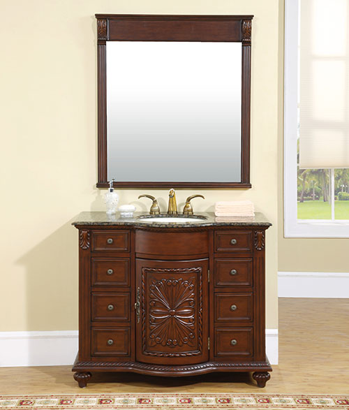 "42"" Terzi Single Bath Vanity - with optional mirror"