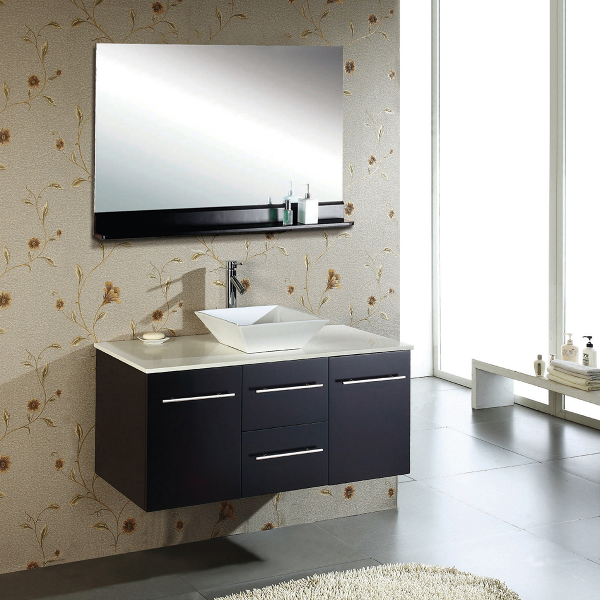 "47.25"" Marsala Single Vanity - with Artificial Stone Top"