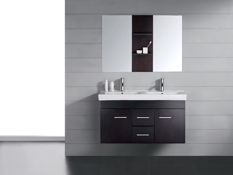 Dark Bathroom Vanity Grey
