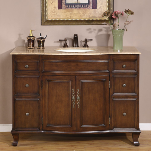 "48"" Norcia Single Bath Vanity - with Travertine Top"